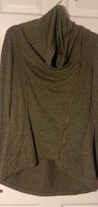 Brand New Sage Green Asymmetrical Jacket